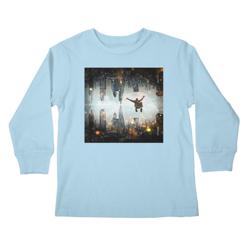 London Falling Kids Longsleeve T-Shirt by Vin Zzep's Artist Shop