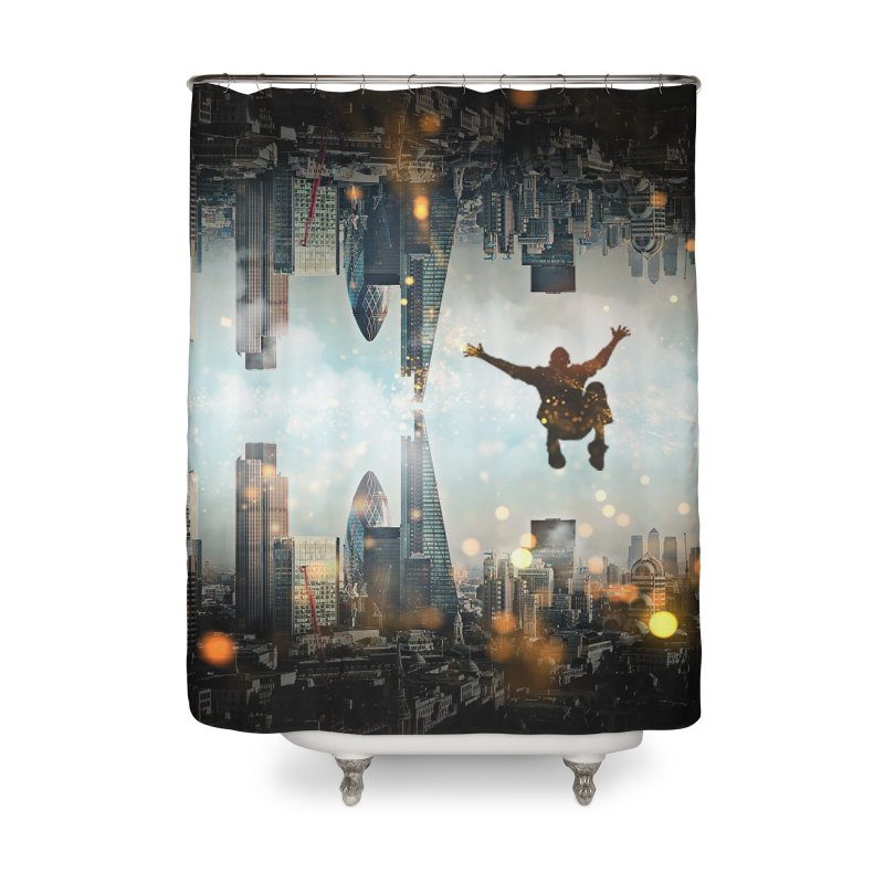 London Falling Home Shower Curtain by Vin Zzep's Artist Shop