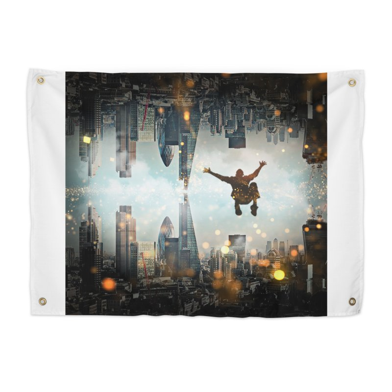 London Falling Home Tapestry by Vin Zzep's Artist Shop