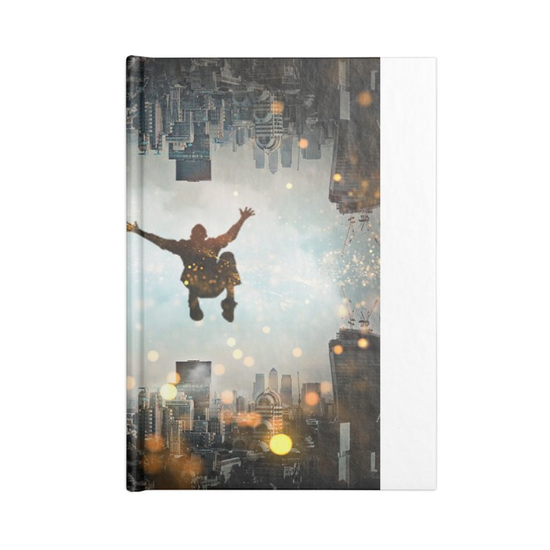 London Falling Accessories Lined Journal Notebook by Vin Zzep's Artist Shop