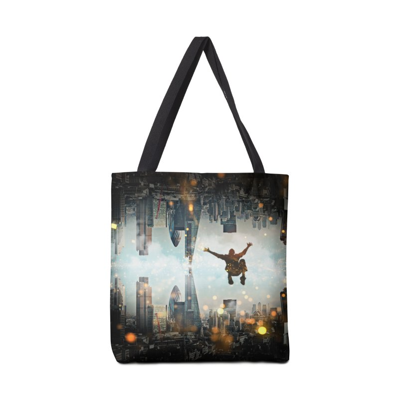 London Falling Accessories Tote Bag Bag by Vin Zzep's Artist Shop