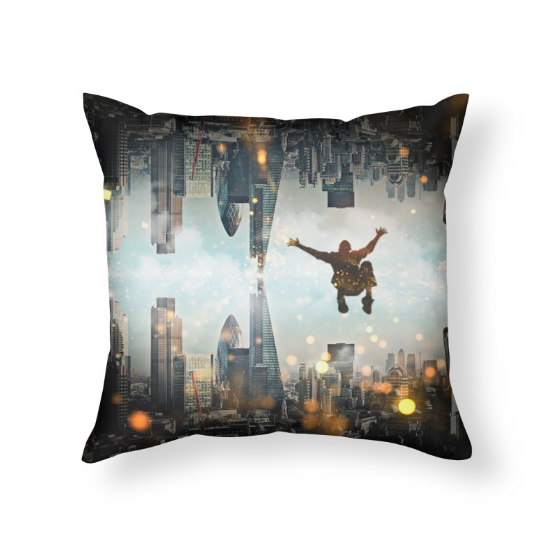 London Falling Home Throw Pillow by Vin Zzep's Artist Shop