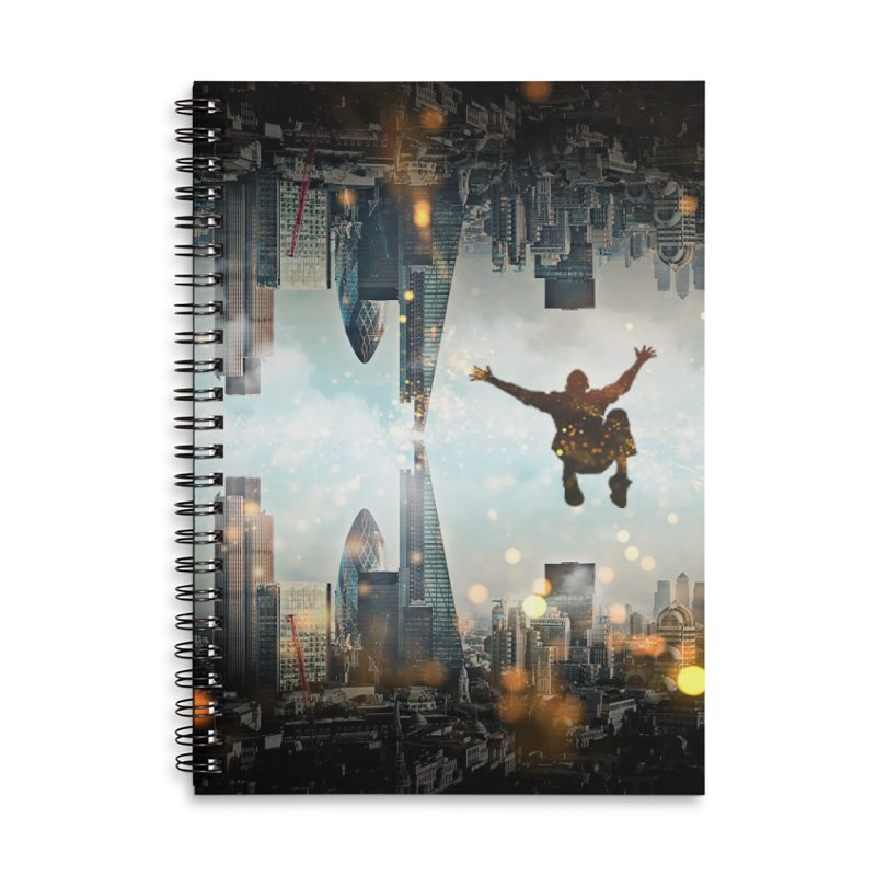 London Falling Accessories Lined Spiral Notebook by Vin Zzep's Artist Shop