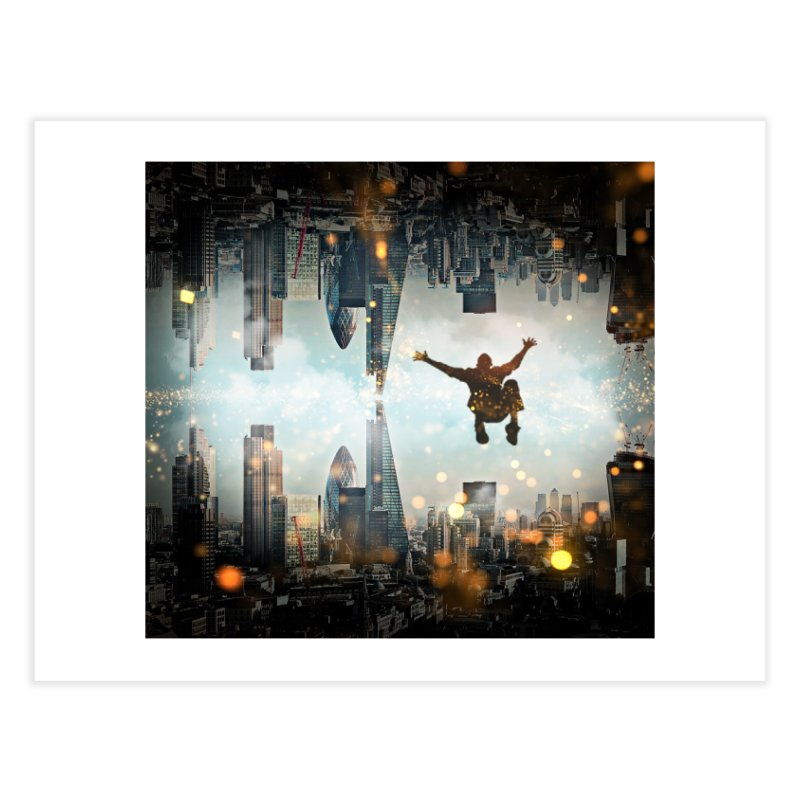 London Falling Home Fine Art Print by Vin Zzep's Artist Shop