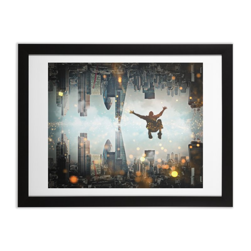 London Falling Home Framed Fine Art Print by Vin Zzep's Artist Shop