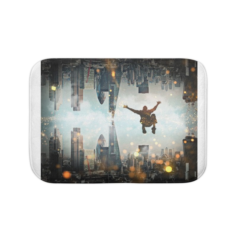 London Falling Home Bath Mat by Vin Zzep's Artist Shop