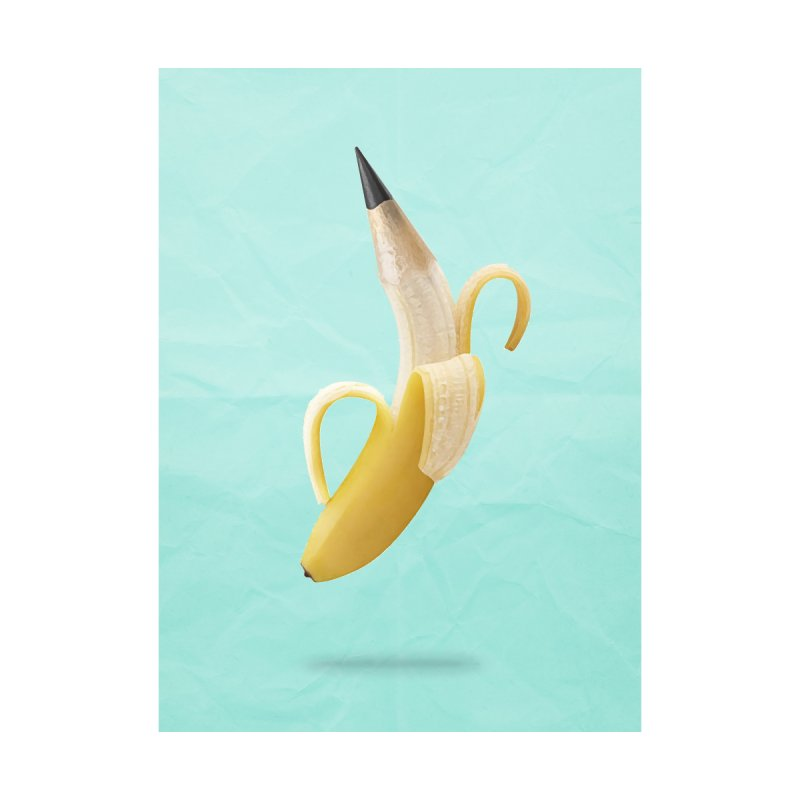 Banana Pencil Women's V-Neck by Vin Zzep's Artist Shop
