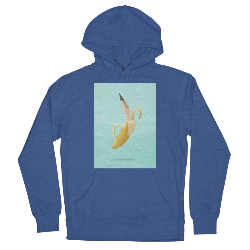 Banana Pencil Women's French Terry Pullover Hoody by Vin Zzep's Artist Shop