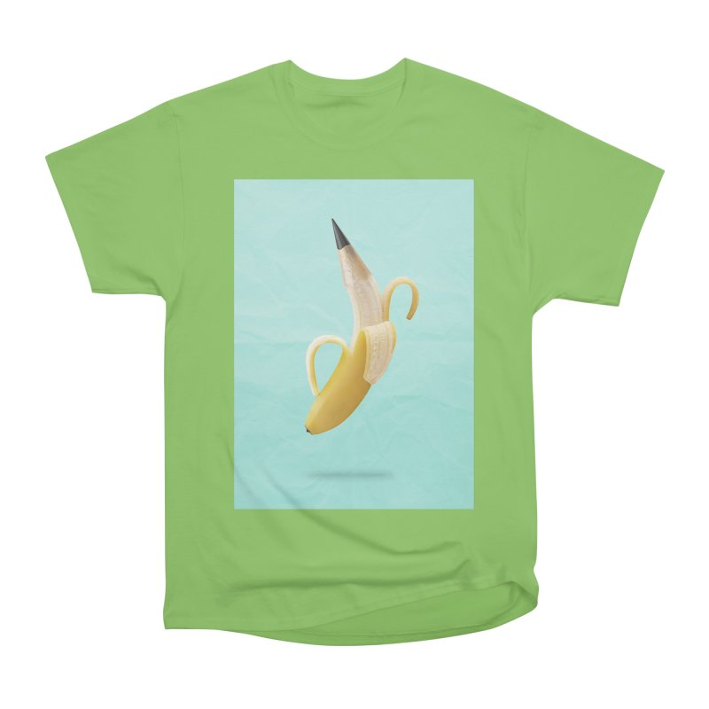 Banana Pencil Women's Heavyweight Unisex T-Shirt by Vin Zzep's Artist Shop