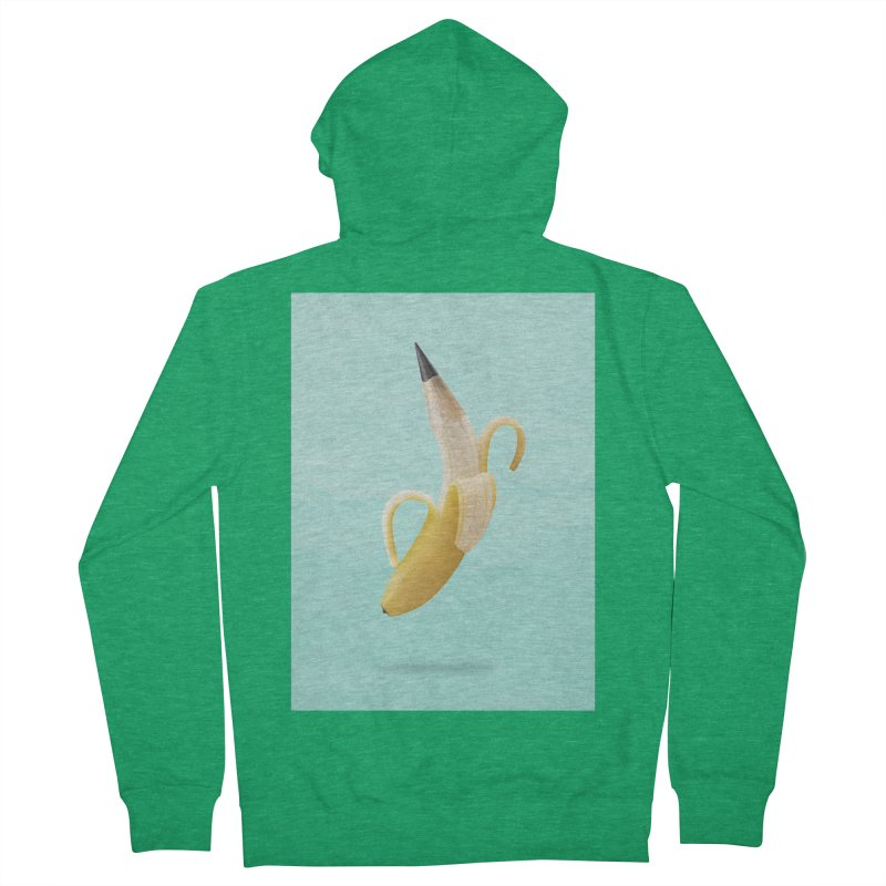 Banana Pencil Women's French Terry Zip-Up Hoody by Vin Zzep's Artist Shop