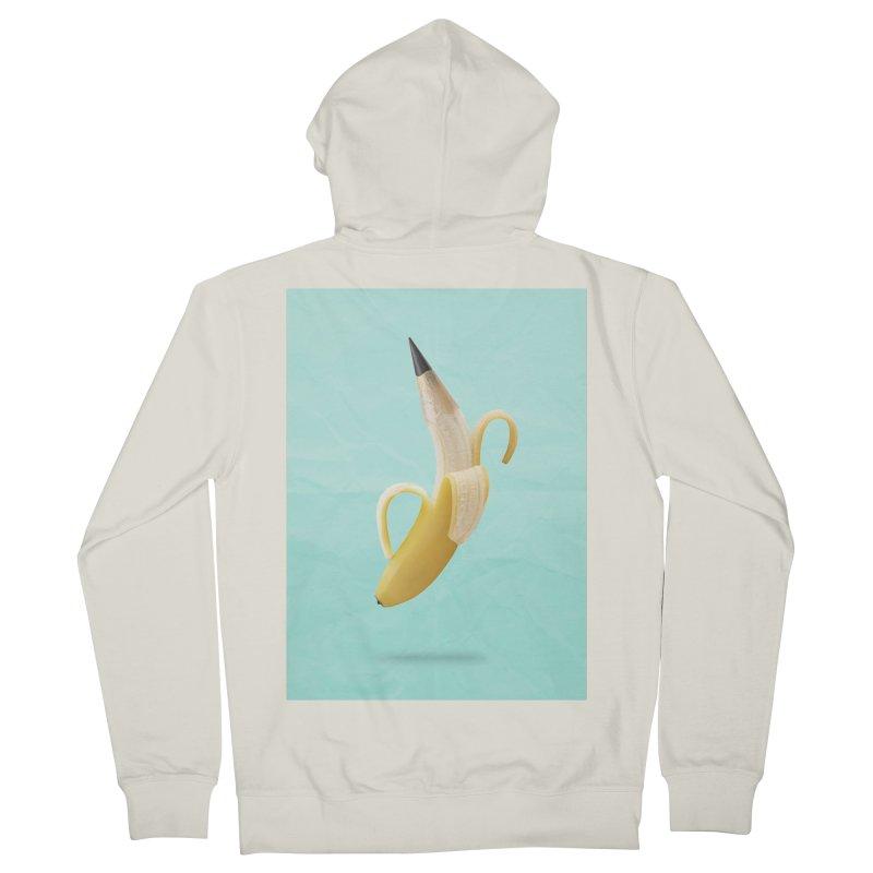 Banana Pencil Women's Zip-Up Hoody by Vin Zzep's Artist Shop