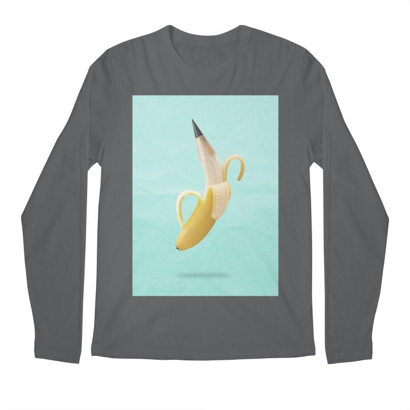 Banana Pencil Men's Longsleeve T-Shirt by Vin Zzep's Artist Shop