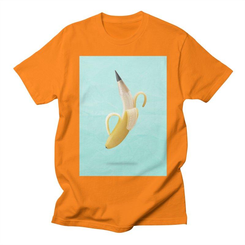 Banana Pencil Women's Regular Unisex T-Shirt by Vin Zzep's Artist Shop