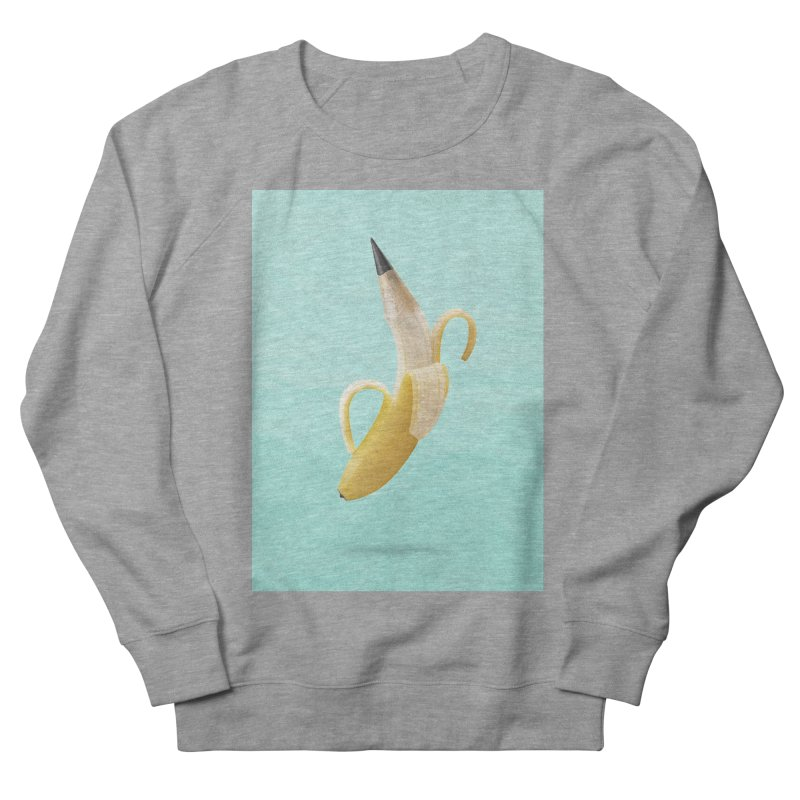Banana Pencil Men's French Terry Sweatshirt by Vin Zzep's Artist Shop