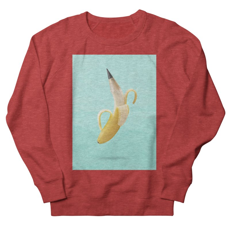 Banana Pencil Men's French Terry Sweatshirt by Vin Zzep's Artist Shop