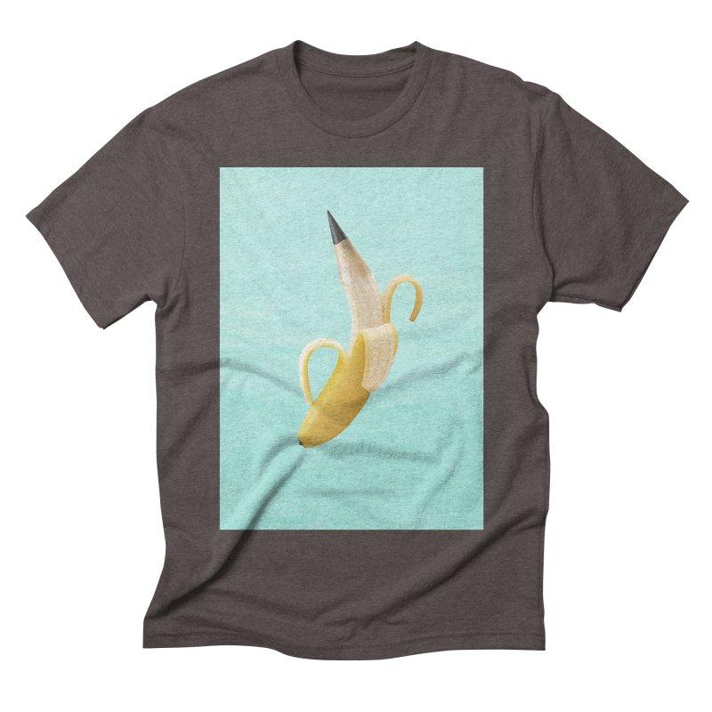 Banana Pencil Men's Triblend T-Shirt by Vin Zzep's Artist Shop