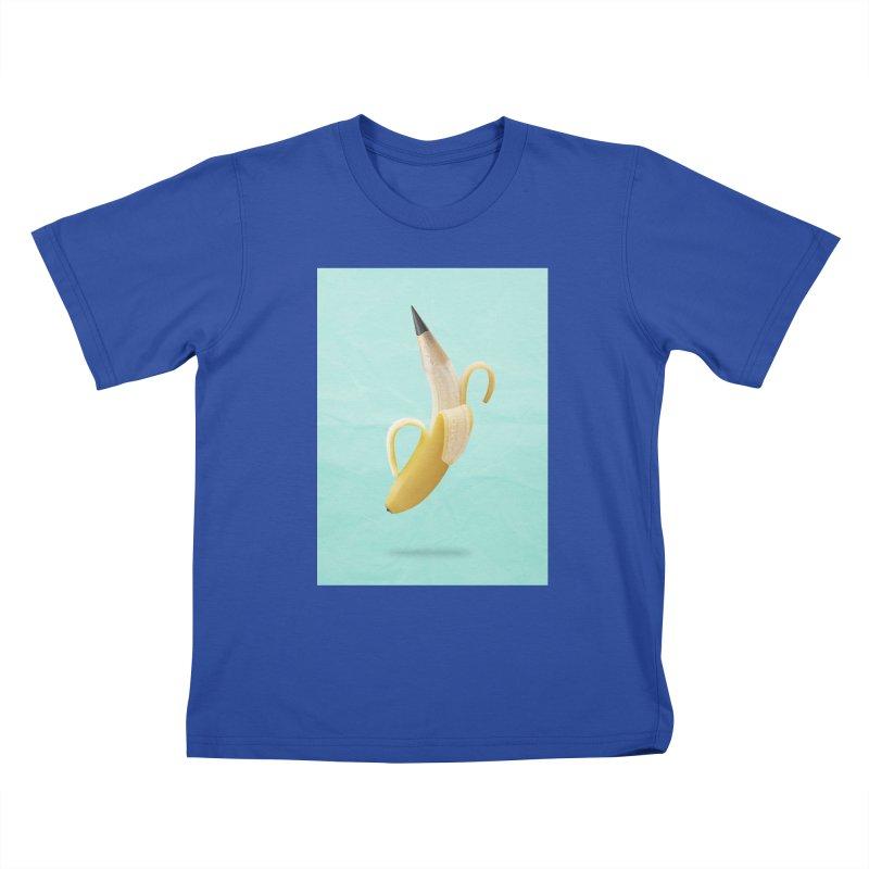 Banana Pencil Kids T-Shirt by Vin Zzep's Artist Shop