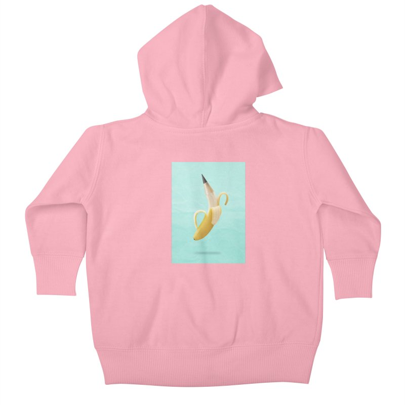 Banana Pencil Kids Baby Zip-Up Hoody by Vin Zzep's Artist Shop