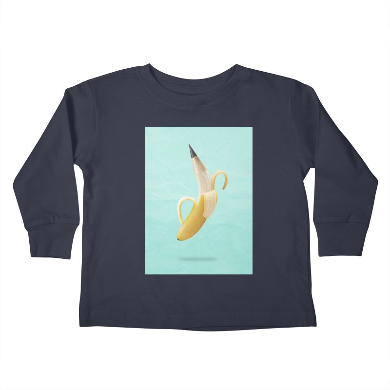 Banana Pencil Kids Toddler Longsleeve T-Shirt by Vin Zzep's Artist Shop