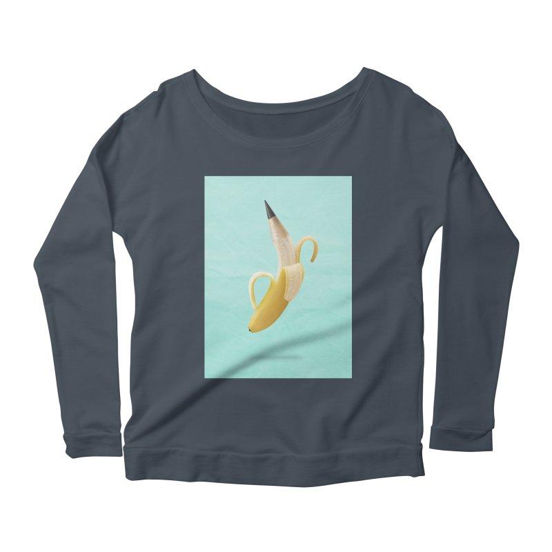 Banana Pencil Women's Scoop Neck Longsleeve T-Shirt by Vin Zzep's Artist Shop