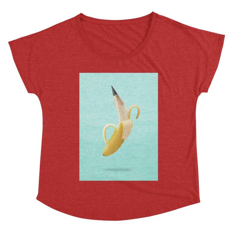 Banana Pencil Women's Scoop Neck by Vin Zzep's Artist Shop