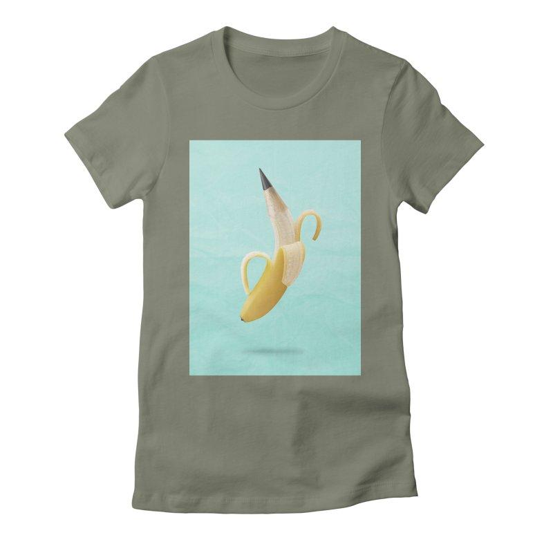 Banana Pencil Women's T-Shirt by Vin Zzep's Artist Shop