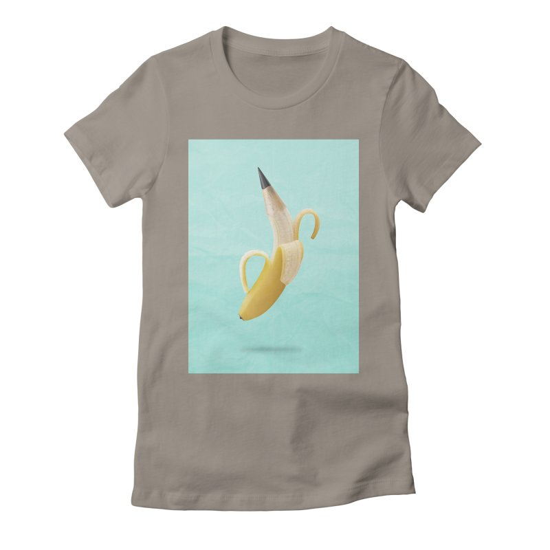 Banana Pencil Women's T-Shirt by Vin Zzep's Artist Shop