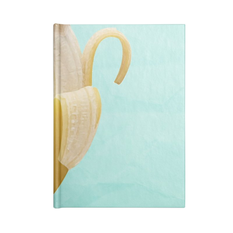 Banana Pencil Accessories Lined Journal Notebook by Vin Zzep's Artist Shop