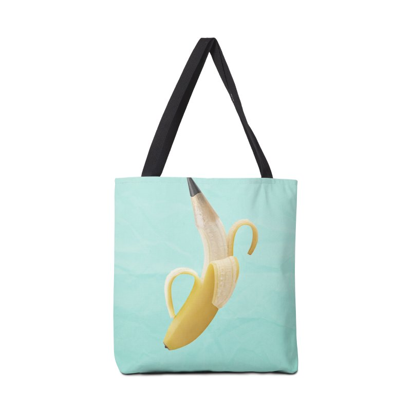 Banana Pencil Accessories Tote Bag Bag by Vin Zzep's Artist Shop