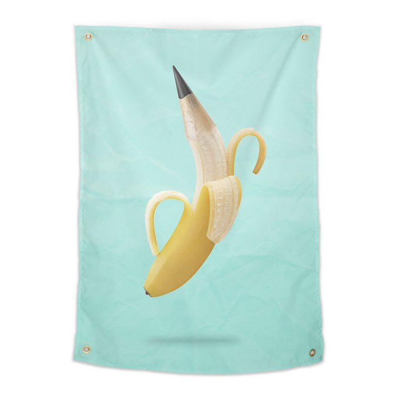 Banana Pencil Home Tapestry by Vin Zzep's Artist Shop