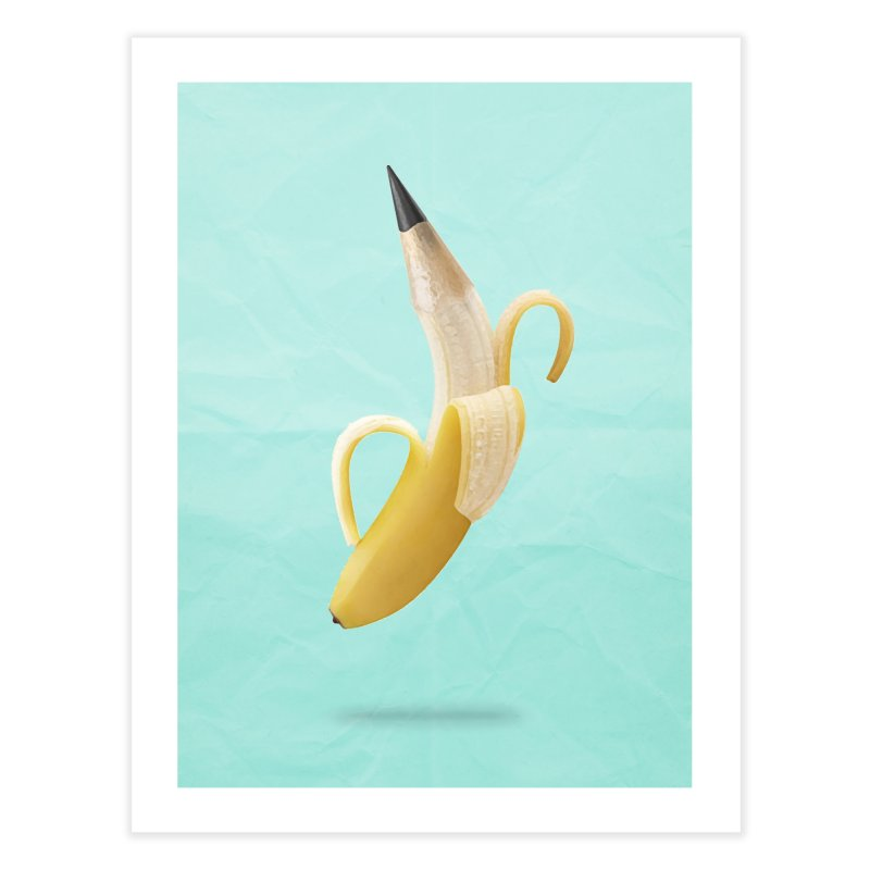 Banana Pencil Home Fine Art Print by Vin Zzep's Artist Shop