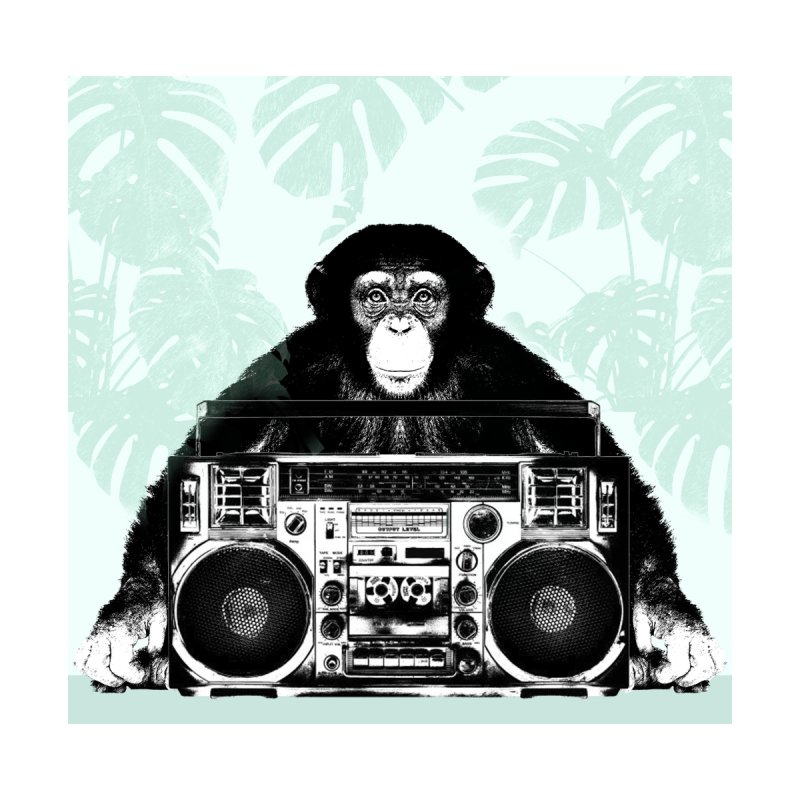 Jungle Music Accessories Zip Pouch by Vin Zzep's Artist Shop