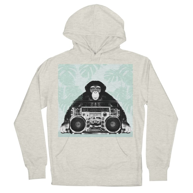 Jungle Music Women's French Terry Pullover Hoody by Vin Zzep's Artist Shop
