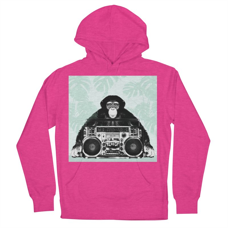 Jungle Music Men's French Terry Pullover Hoody by Vin Zzep's Artist Shop