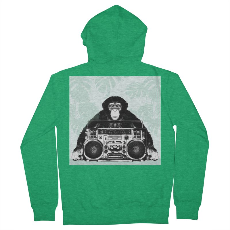 Jungle Music Men's Zip-Up Hoody by Vin Zzep's Artist Shop