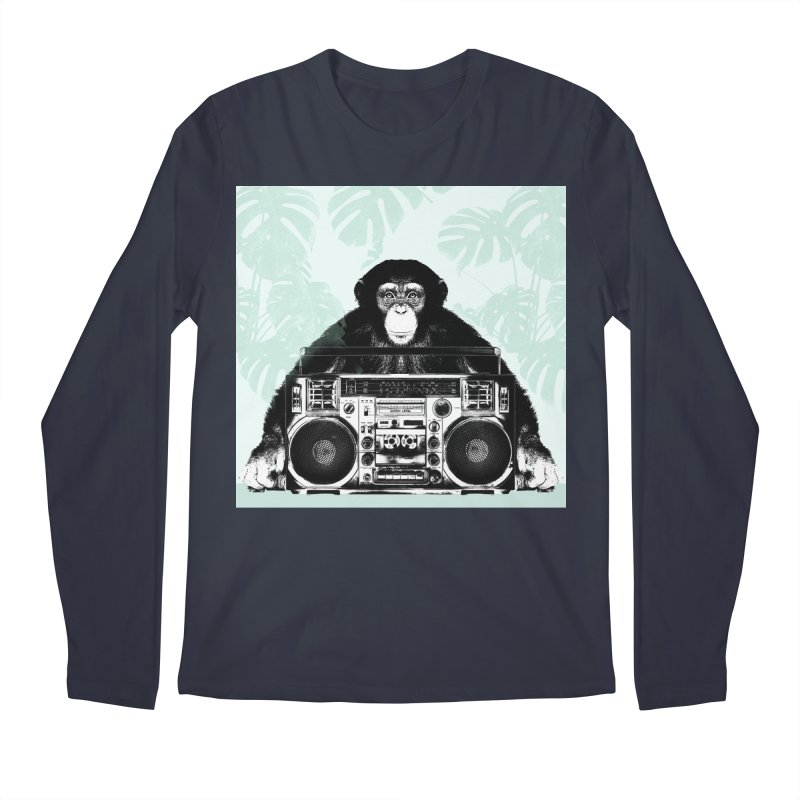 Jungle Music Men's Regular Longsleeve T-Shirt by Vin Zzep's Artist Shop