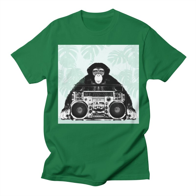 Jungle Music Men's Regular T-Shirt by Vin Zzep's Artist Shop
