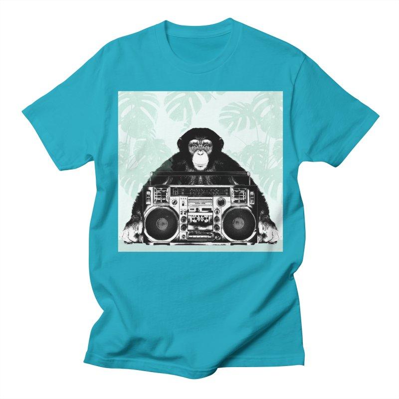 Jungle Music Men's Regular T-Shirt by Vin Zzep's Artist Shop
