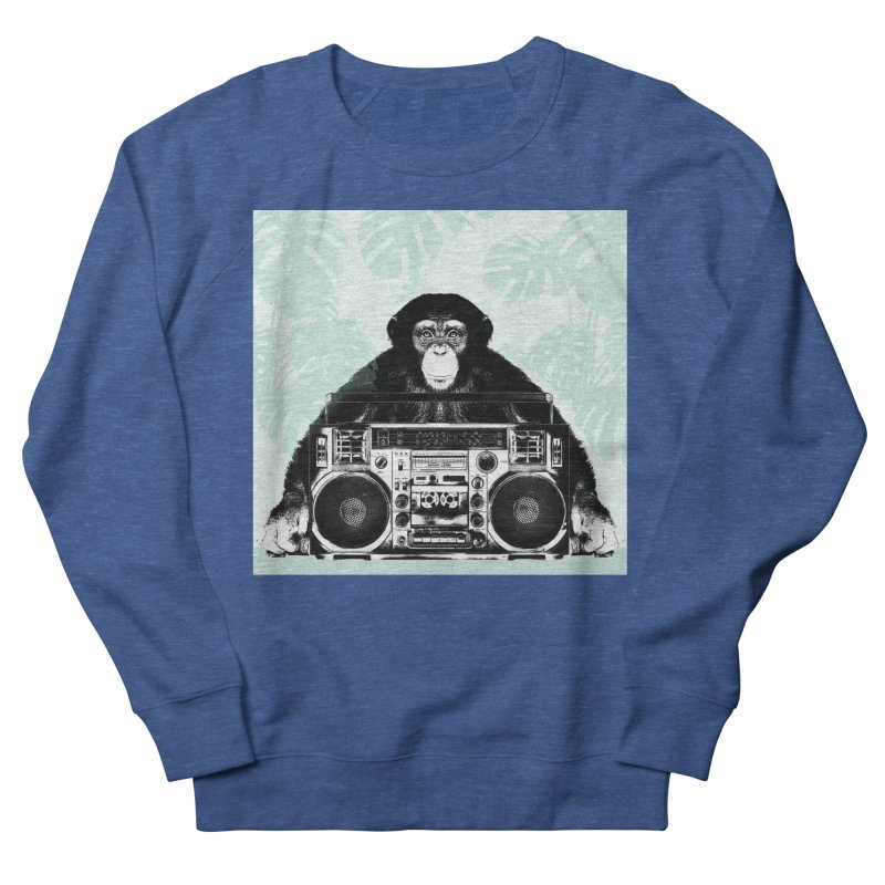 Jungle Music Women's French Terry Sweatshirt by Vin Zzep's Artist Shop