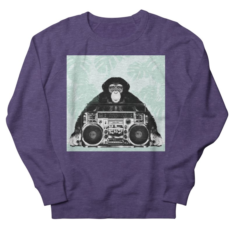 Jungle Music Women's French Terry Sweatshirt by Vin Zzep's Artist Shop
