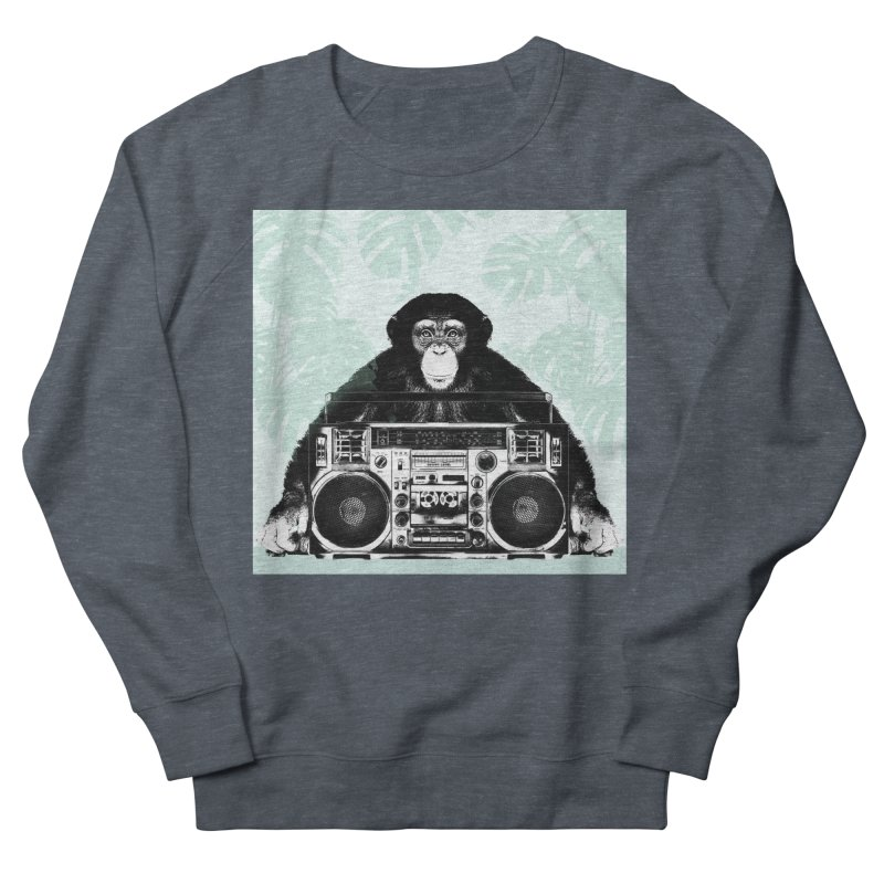 Jungle Music Men's French Terry Sweatshirt by Vin Zzep's Artist Shop