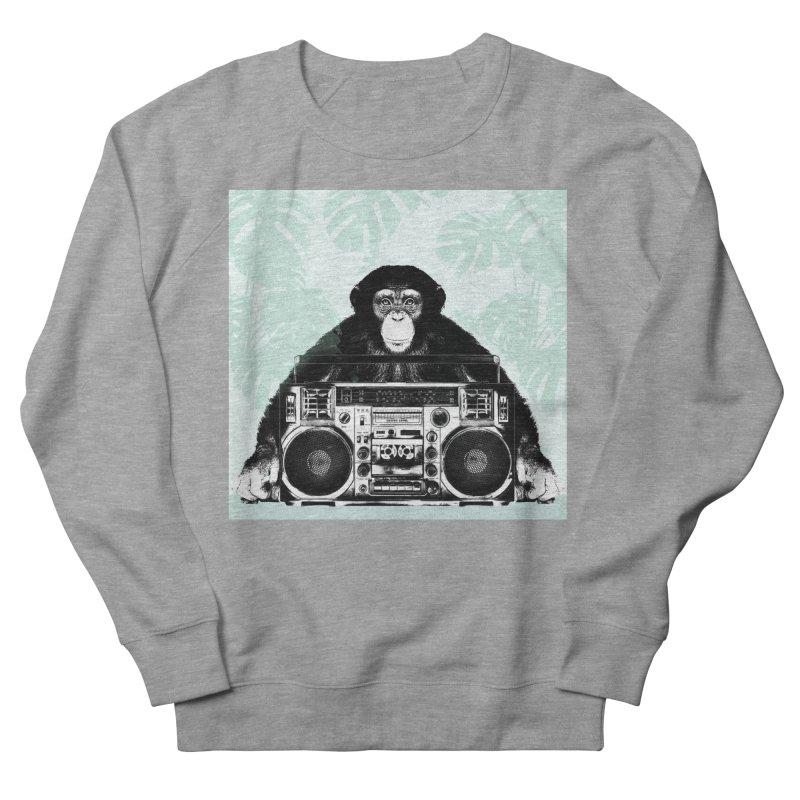 Jungle Music Men's French Terry Sweatshirt by Vin Zzep's Artist Shop