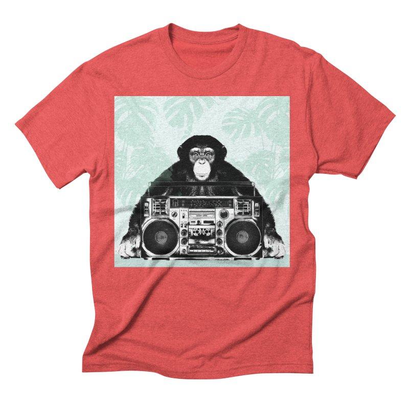 Jungle Music Men's Triblend T-Shirt by Vin Zzep's Artist Shop