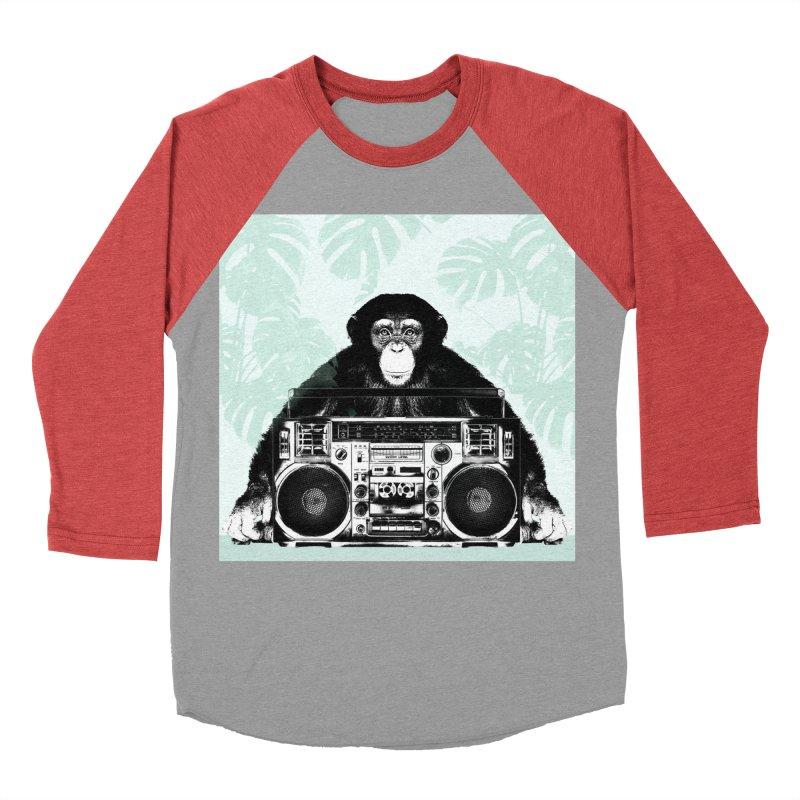 Jungle Music Women's Baseball Triblend Longsleeve T-Shirt by Vin Zzep's Artist Shop