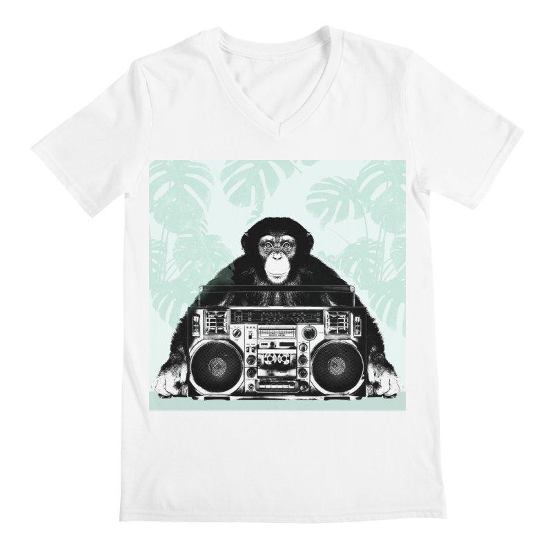 Jungle Music Men's V-Neck by Vin Zzep's Artist Shop