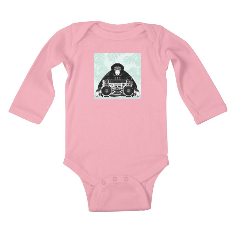 Jungle Music Kids Baby Longsleeve Bodysuit by Vin Zzep's Artist Shop