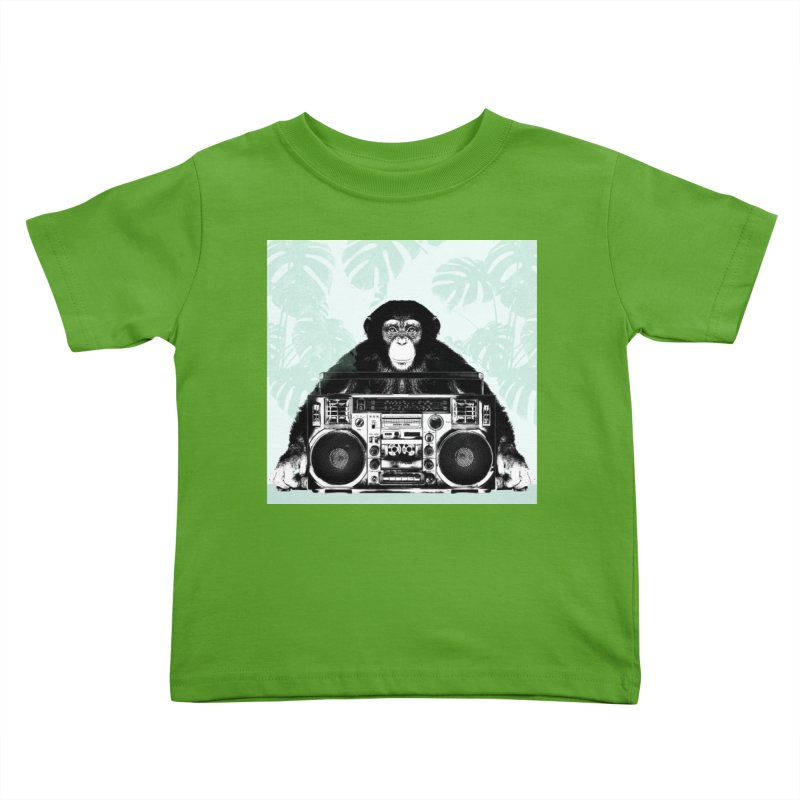 Jungle Music Kids Toddler T-Shirt by Vin Zzep's Artist Shop