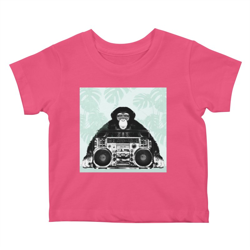 Jungle Music Kids Baby T-Shirt by Vin Zzep's Artist Shop