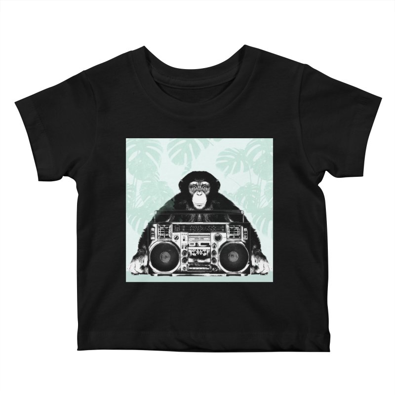 Jungle Music Kids Baby T-Shirt by Vin Zzep's Artist Shop
