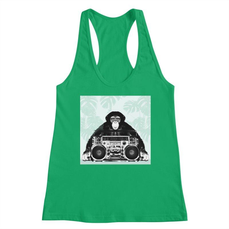 Jungle Music Women's Racerback Tank by Vin Zzep's Artist Shop